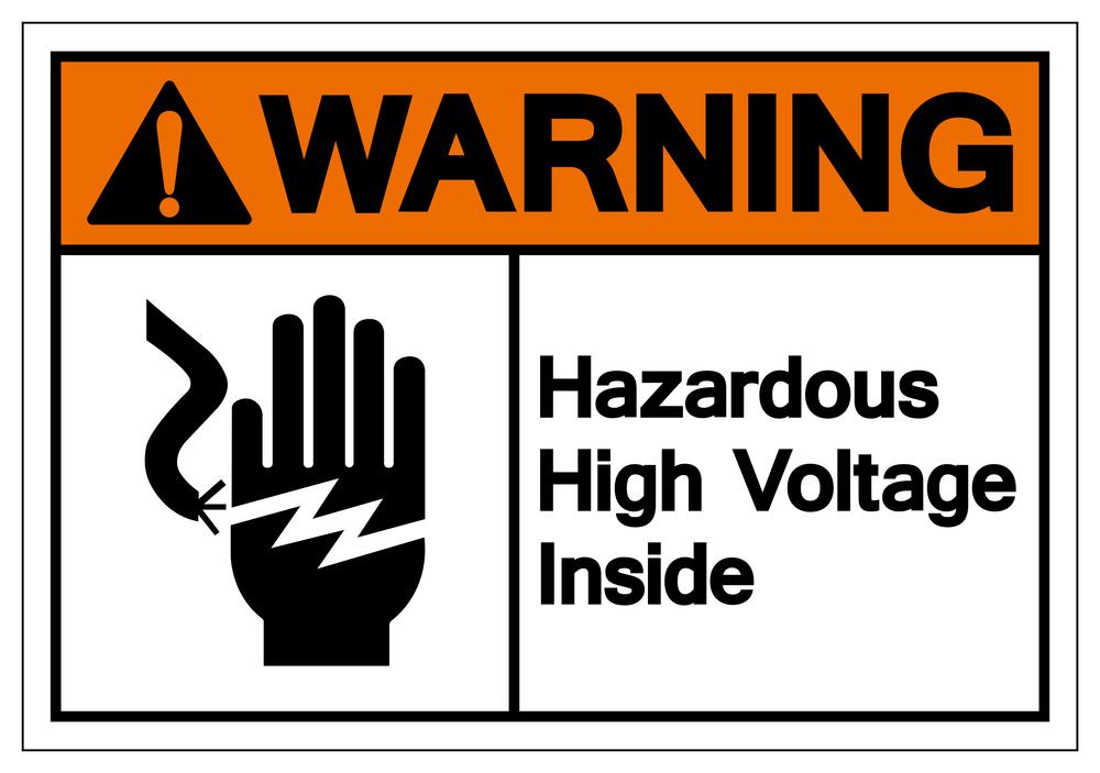 Hazardous High Voltage Inside